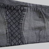 Ladies Denim & Co. Stretchable Slim Fit 'B Grade' Jeans Check Knee in Grey