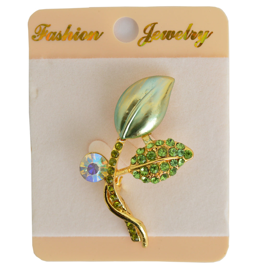 Sikely Glittering Head Brooch Design # 10