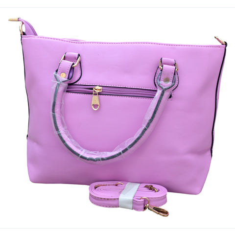 Women Original HW Leather Hand Bag in light purple