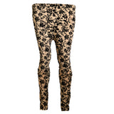 Ladies Original OP Brown & Black Floral Tights