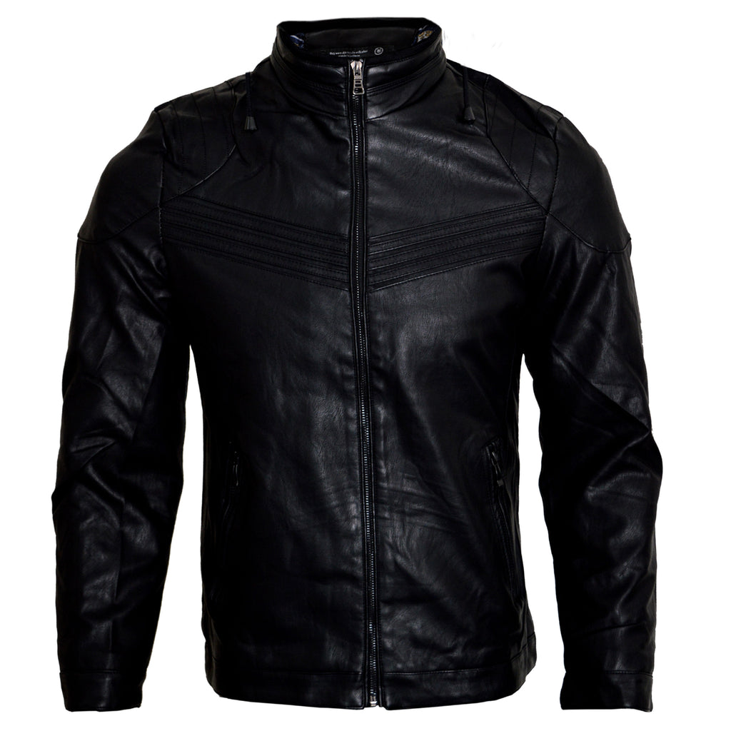Men's Original K.S.W Leather Jacket in Black