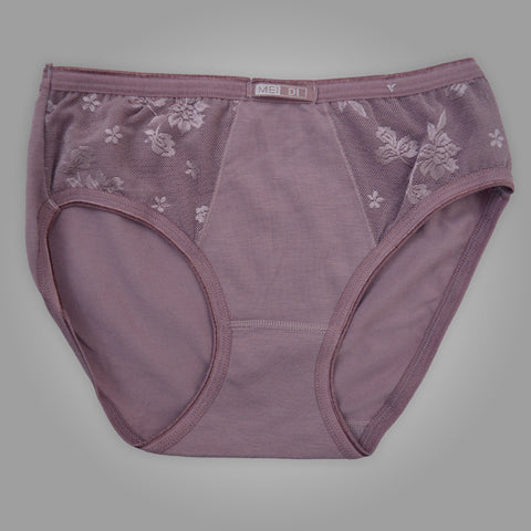 Ladies OP Soft Cotton Net Underwear in Purple