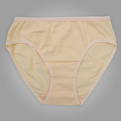 Ladies OP Soft Cotton Underwear in Light Yellow