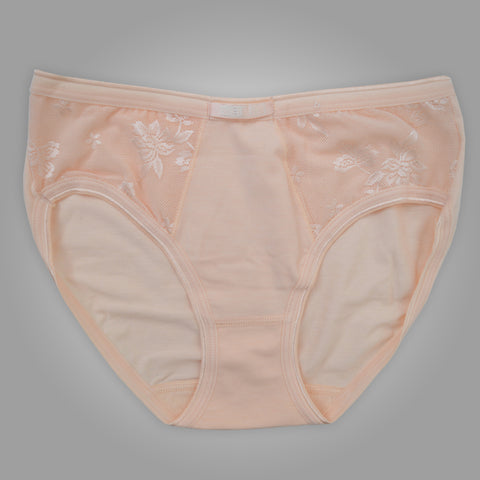 Ladies OP Soft Cotton Net Underwear in Light Orange