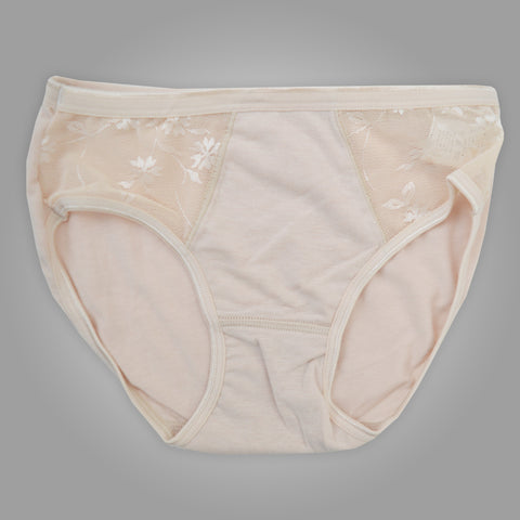 Ladies OP Soft Cotton Net Underwear in Skin