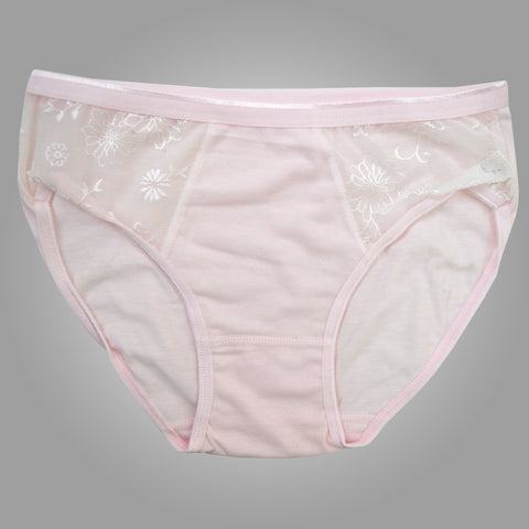 Ladies OP Soft Cotton Net Underwear in Pink