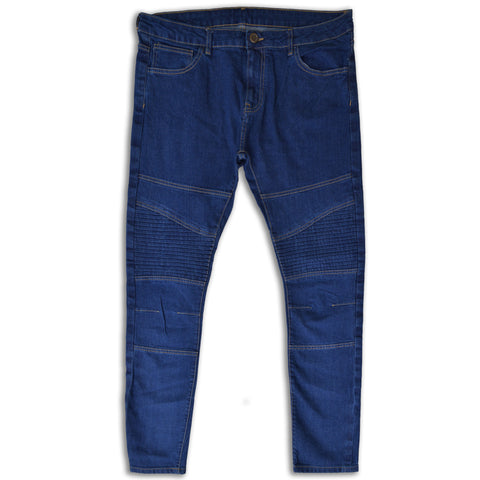 Men's Dark Denim Knee Styling Slim Fit Jeans by OPJ