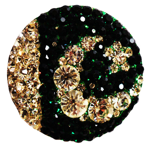 Sikely Glittering Head Brooch in PAK Flag