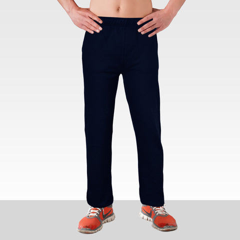 League's Original Close Bottom Blue Fleece Trousers