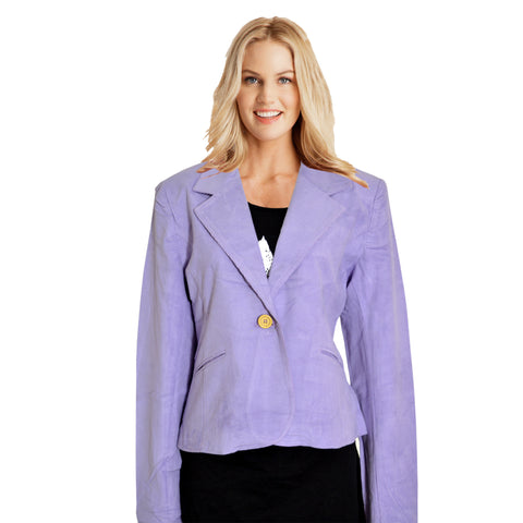Ladies Original Clarisse Corduroy Coat in Light Purple