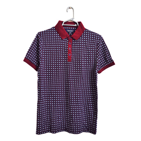 Men's Original Twisted Soul Burgundy Twinkle Polo