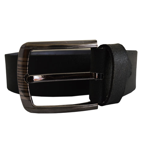 Men's OP Black Leather Belt 01