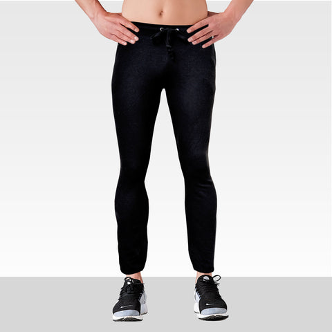 League's Original Close Bottom Black Fleece Trouser