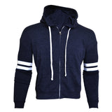 League's Unisex Blue hoddie with White Stripe