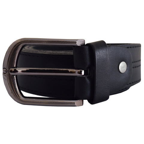 Men's OP Black Leather Belt 7