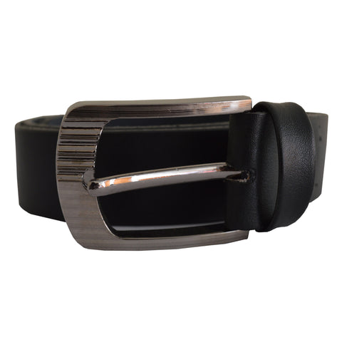 Men's OP Black Leather Belt 11
