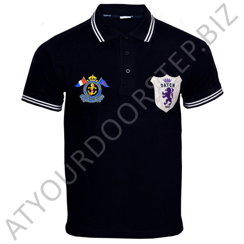 Men's Original RNCO Cut Label Triumph Black Polo Shirt
