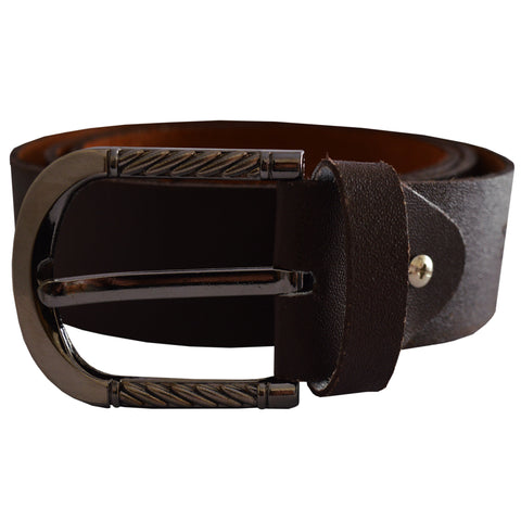 Men's OP Dark Brown Leather Belt 17