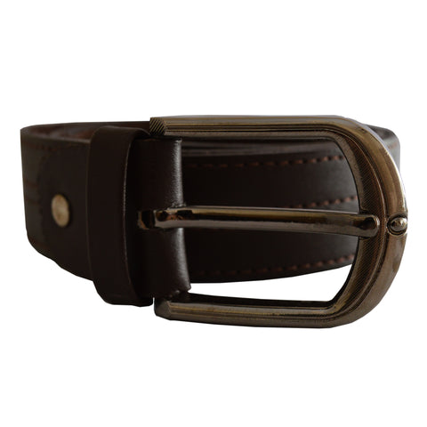 Men's OP Dark Brown Leather Belt 27
