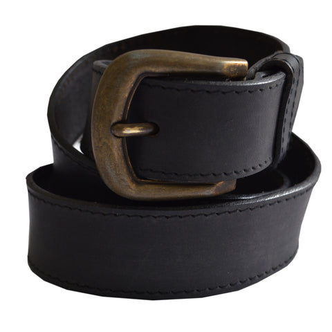 Ladies Osprey Premium Black Leather Belt