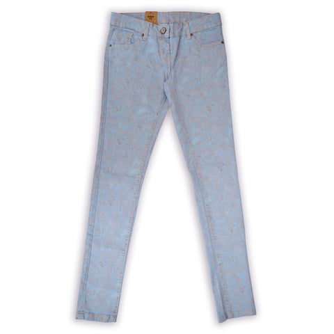 Women Heritage Skin Fit Light Blue Floral Pent