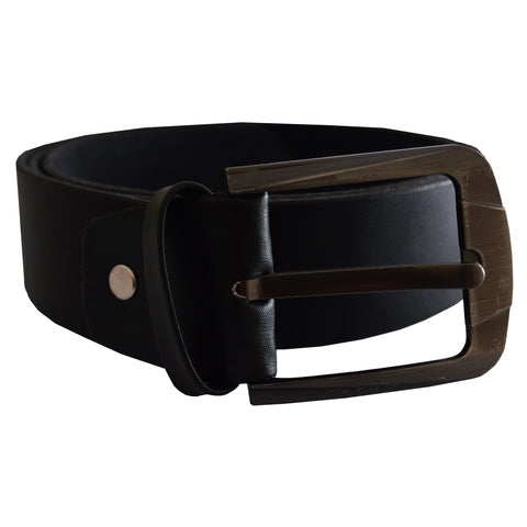 Men's OP Black Leather Belt 19