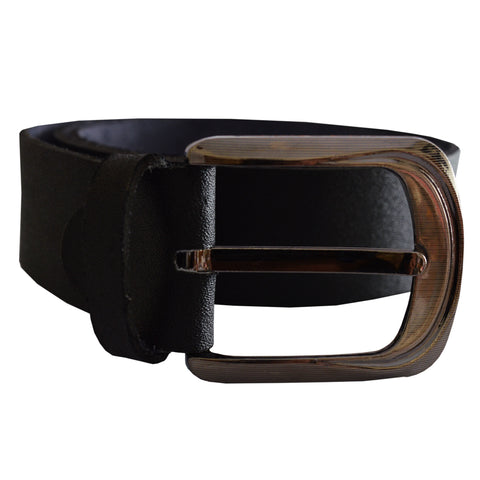 Men's OP Black Leather Belt 20