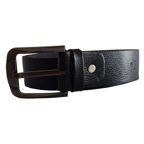 Men's OP Black Leather Belt 22
