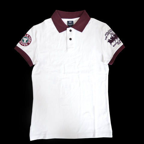 Ladies Pohlam Embroidered Polo Shirt in White