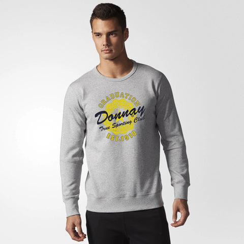 Donnay's Original Soft Fleece Sweat Shirt in Grey