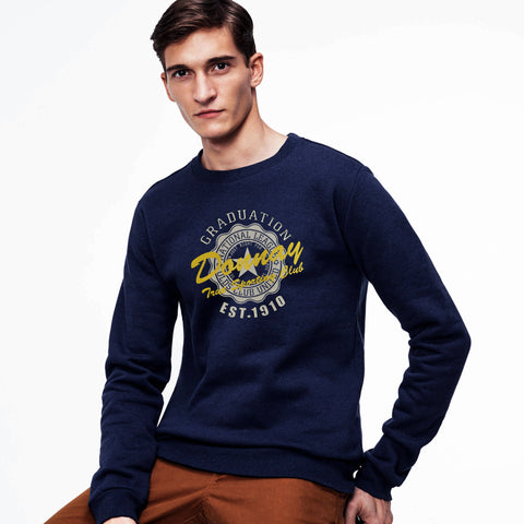 Donnay's Original Soft Fleece Sweat Shirt in Navy Blue *
