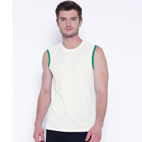 Men's Original Azzurri White Sleeveless Tank Top