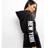 Original Parisian Black New York Short body Hoodie