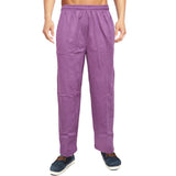 Men's Soft Purple Stripe Casual Trouser