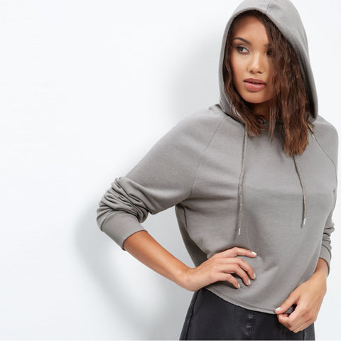 Original Parisian Plain Grey Short body Hoodie