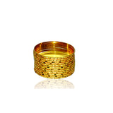 Set of 12 self lining Golden Bangles by All Well
