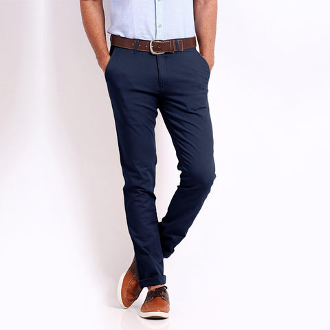 PREMIUM QUALITY 1951 SOBER SLIM FIT DARK NAVY CHINO