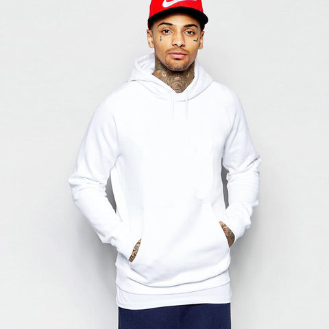 Men's White Boohoo 'B Grade' Hoodie in White