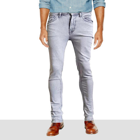 Men's Kiabi Slim fit Stretchable Grey wash Jeans