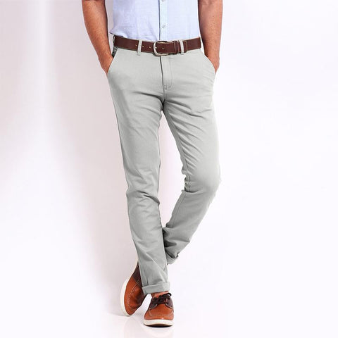 PREMIUM QUALITY 1951 SOBER SLIM FIT LIGHT GREY CHINO