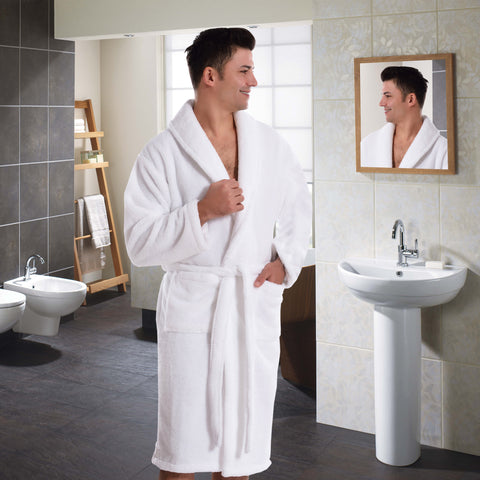 Original San Carlos Organic Cotton White Bath Robe for Men