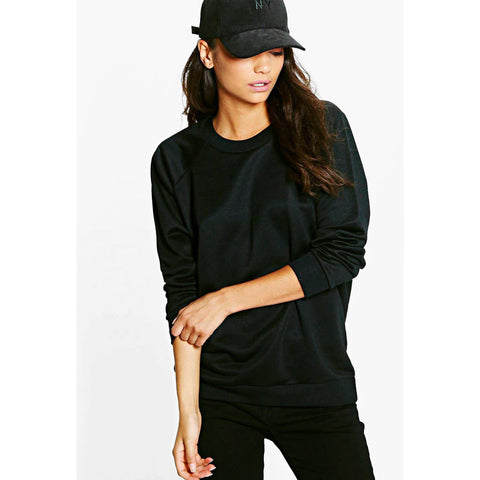 Women's Original Boohoo Sweat Shirt Black