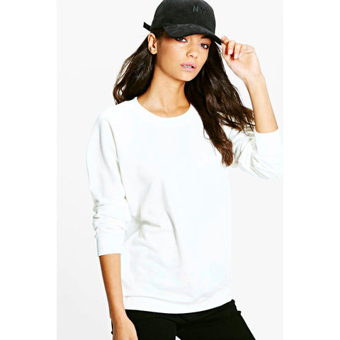 Women's Original Boohoo Sweat Shirt White