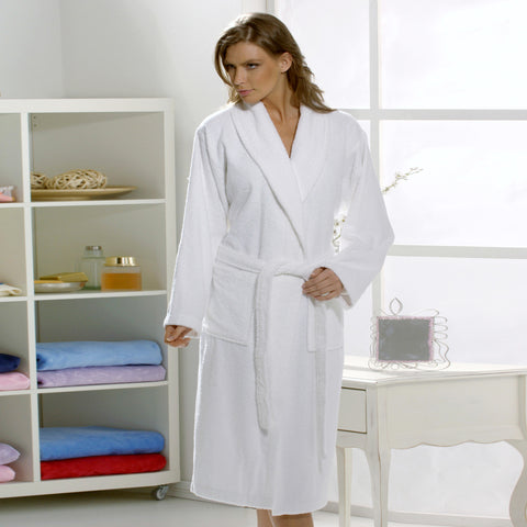 Original San Carlos Organic Cotton White Bath Robe for Women