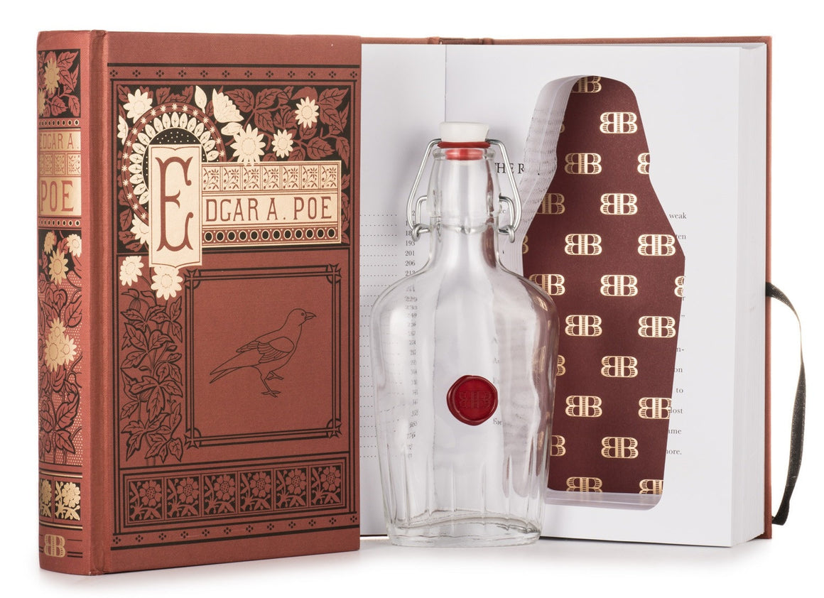Edgar Allan Poe Booze Book - cover and open