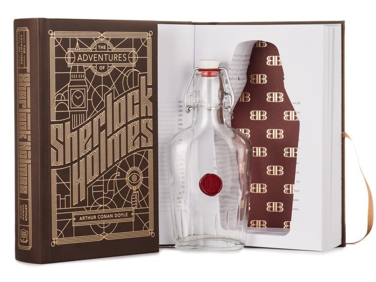 Adventures of Sherlock Holmes Book with Hidden Flask