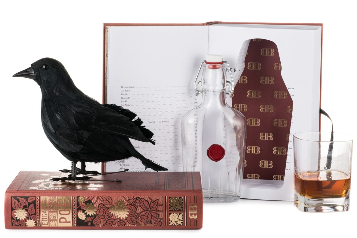 Edgar Allan Poe Booze Book - with raven