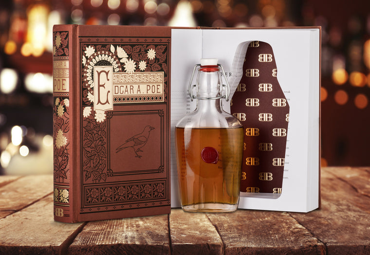 Edgar Allan Poe Book with Hidden Flask