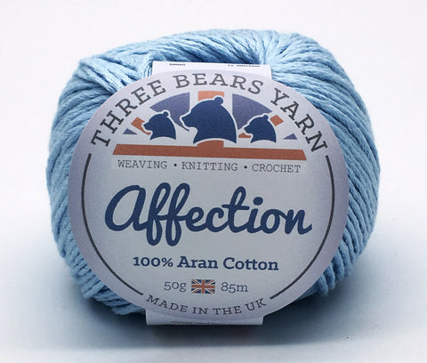Baby Blue 100% Cotton - 50g Aran (Worsted)