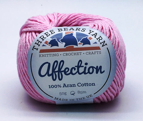 Baby Pink 100% Cotton - 50g Aran (Worsted)